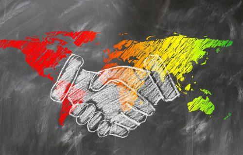 Handschlag Farbenwelt